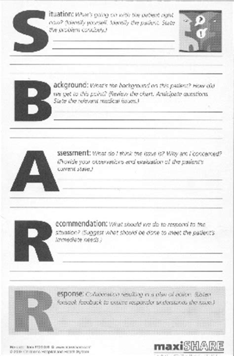 printable sbar template pictures to pin on pinterest
