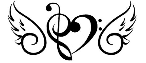 music tattoo png music note wing tattoo tattoos pinterest music notes