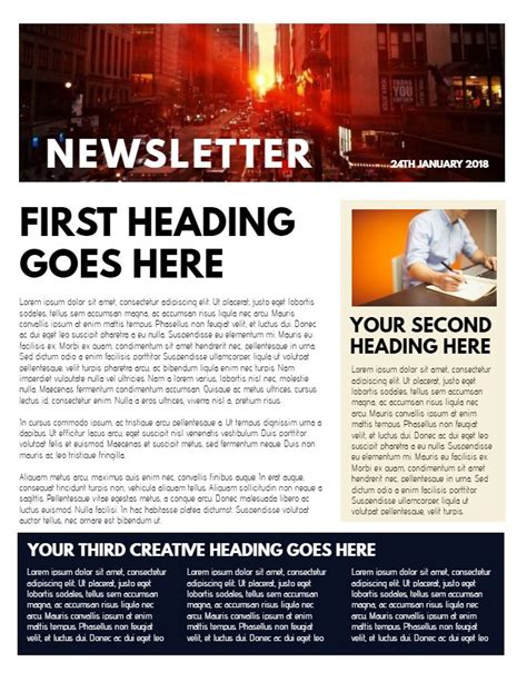 Professional Newsletter Sle Click To Customize Newsletter Sles Pinterest Newsletter Templates For Drive