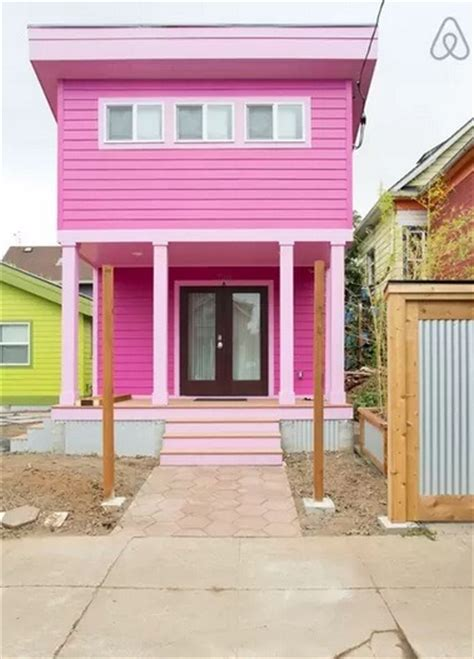 200 sq ft house 200 sq ft pink tiny house in portland or