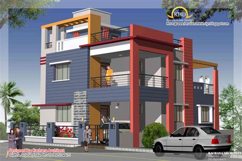 Duplex House Plans With Elevation Duplex House Plan And Elevation 2349 Sq Ft Home Appliance