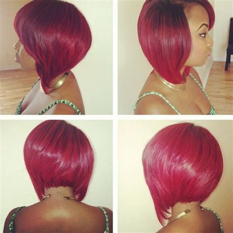 inverted bob hairstyles colors red color on inverted bob hair cut fashion