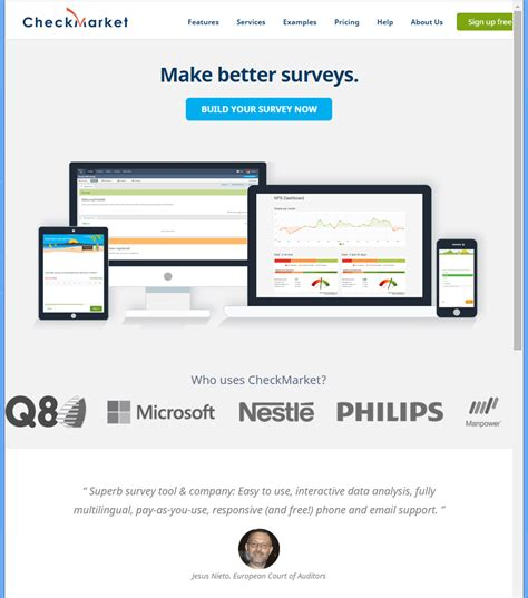 Free Survey Tools - checkmarket survey software review web based survey software