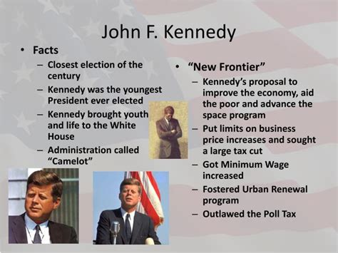 john f kennedy biography powerpoint ppt kennedy and johnson powerpoint presentation id 2333051