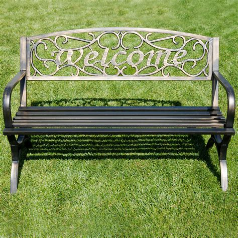 welcome bench elegance welcome design outdoor park bench backyard yard