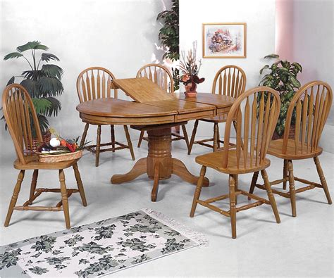 windsor dining room set crown mark windsor solid 7 piece oval dining table and