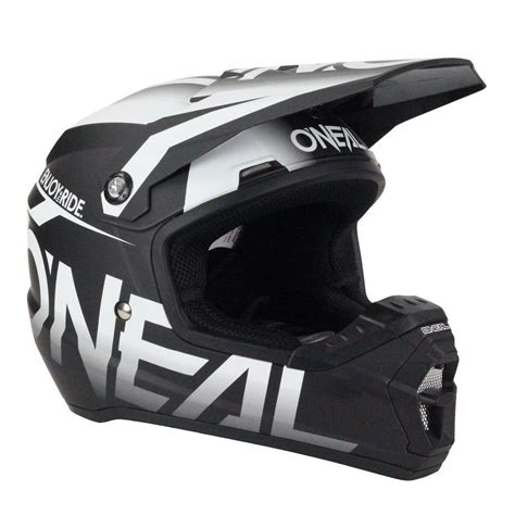 white motocross helmet oneal 2017 mx 5 series blocker dirt bike black white
