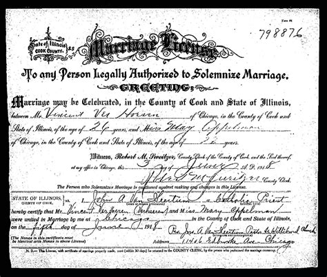 Cuyahoga County Marriage License Records Chicagogenealogy Research Insights From Study And