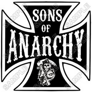 Personalized iron on transfers sons of anarchy t shirt iron on