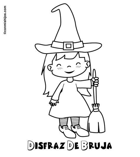 imagenes de brujas bonitas para dibujar dibujo de disfraz de bruja para colorear con ni 241 os
