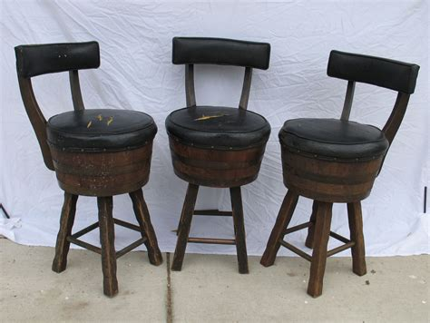 Wine Bar Stools by Wine Bar Stools Brown Nyctophilia Design Wine Barrel