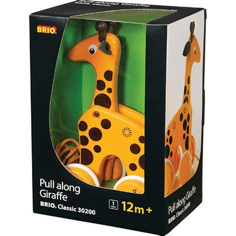 brio pull along brio pull along giraffe stevensons toys