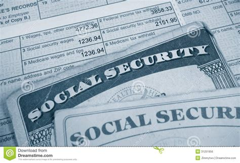 social security section 8 w2 and social sec royalty free stock image image 31251956