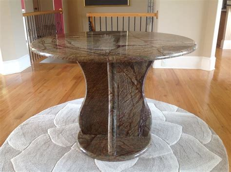Rainforest Brown Granite Countertop by Recent Project Custom Table And Base Made From Rainforest