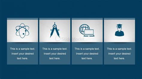 process layout features 4 step flat process chart powerpoint slidemodel