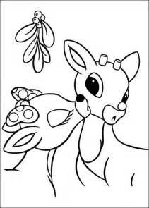Reindeer coloring pages picture 19 christmas reindeer and friends