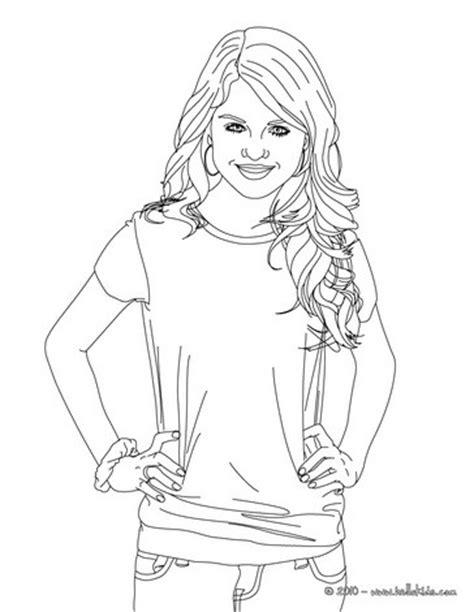 selena gomez actress coloring pages hellokids com