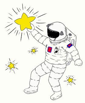 gambar astronot kartun hitam putih gambar kartun