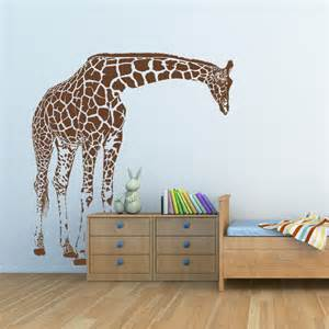 giraffe wall sticker giraffe big wall decal by artollo