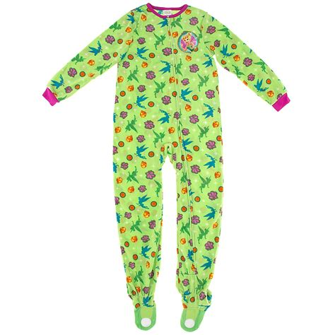tinker bell green footed pajamas for toddlers and