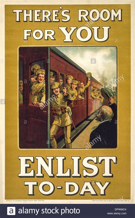 there s still room for quot there s room for you enlist to day world war 1 recruitment poster stock photo royalty free