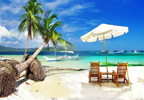 imagenes de vacaciones en la playa fotomural de vinilo con playa tropical