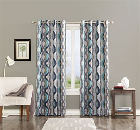 curtains 54 x 63 sun zero burbank watercolor energy efficient curtain panel