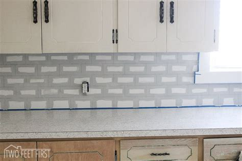 Cheap Kitchen Backsplash Tile - hometalk diy cheap subway tile backsplash