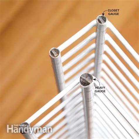 how to cut wire shelving how to install wire shelving the family handyman