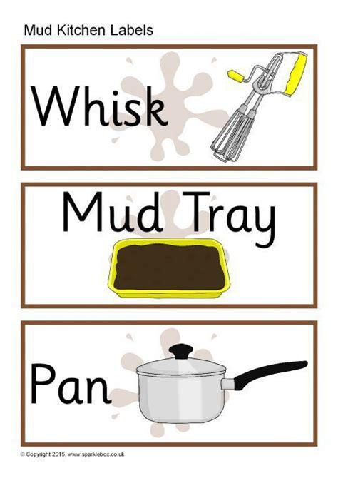 Mud Kitchen Labels Mud Kitchen Labels Sb11294 Sparklebox