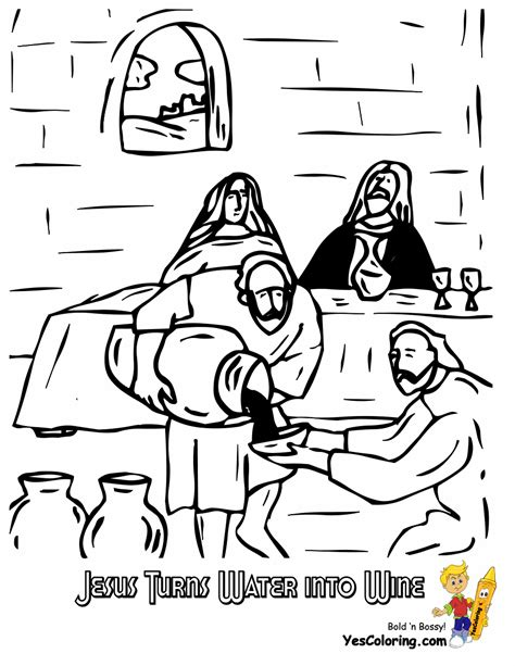 coloring pages jesus turns water into wine rock of ages bible coloring pages all free coloring