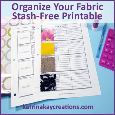 swatch card template organize your fabric stash free printable