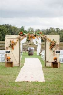 Decorated Wedding Arbors 35 Totally Ingenious Rustic Outdoor Barn Wedding Ideas