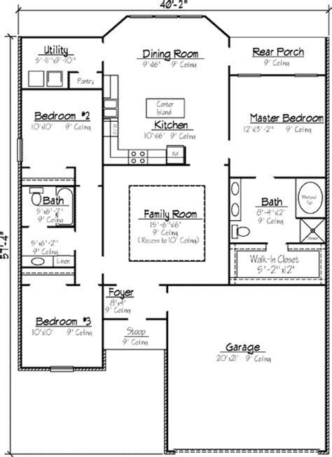 louisiana style garden home plan 14158kb 1st floor