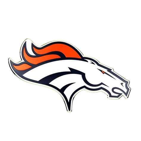 denver broncos colors denver broncos color emblem car or truck decal team promark