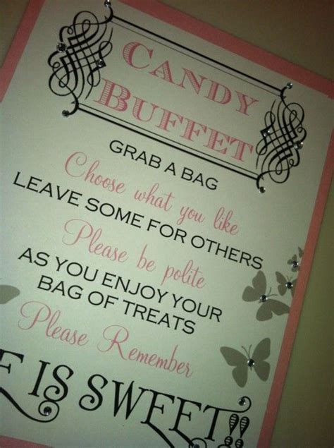 Candy Buffet Candy Buffet Signs And Buffet On Pinterest Wedding Buffet Sayings