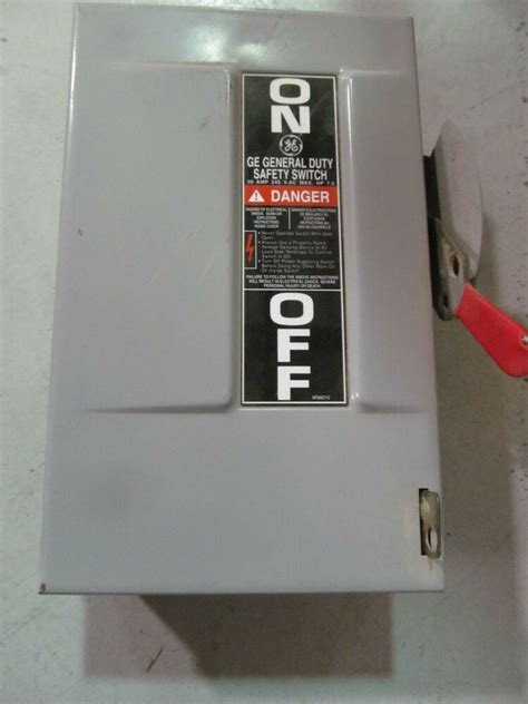 ge general electric safety switch  amp  volt tgn