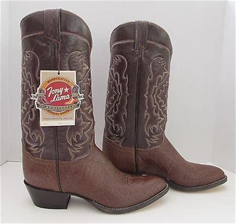 elephant skin boots tony lama genuine elephant skin cowboy boots mens 8 1 2 d