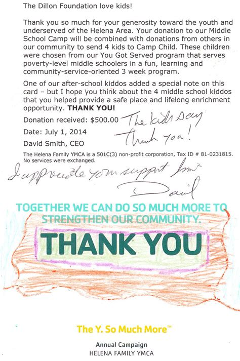Ymca Fundraising Letter C Child Ymca Helena Mt