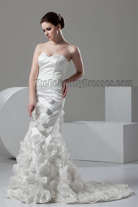 trumpetmermaid strapless sweetheart bridal gown wedding