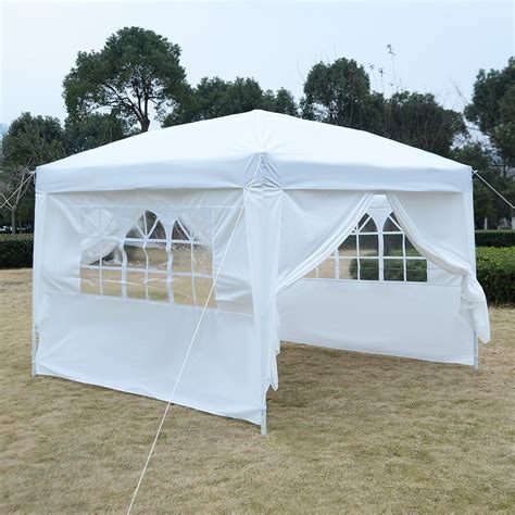 easy up gazebo 10 x 10 ez pop up tent canopy gazebo