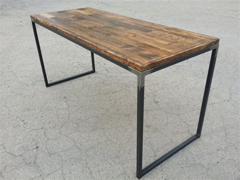 wood and steel desk 1000 ideas about reclaimed wood desk on live