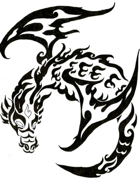 tattoo tribal desenhos dragon tribal tattoo aido bonsai