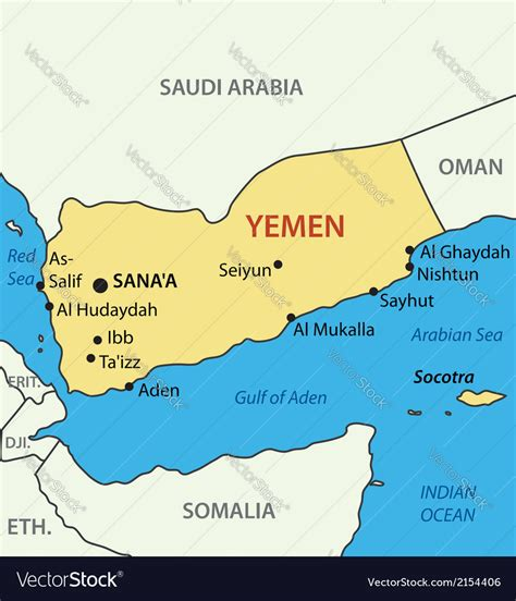 republic  yemen map royalty  vector image