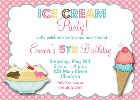 Downloadable Ice Cream Social Invitations Social Invitation Template