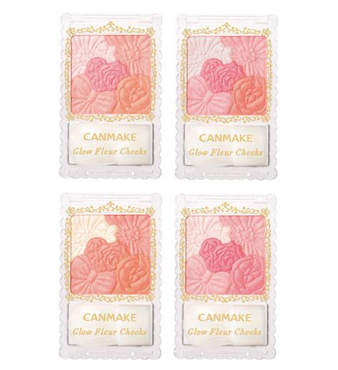 can make canmake tokyo glow fleur cheeks 4 colors make up powder