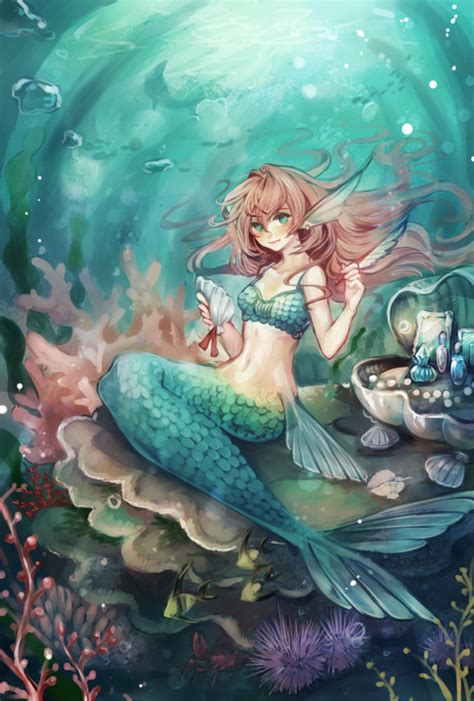 mermaids fairies other 1682614859 red haired mermaid anime anime fairies spirits and other supernatural mermaid