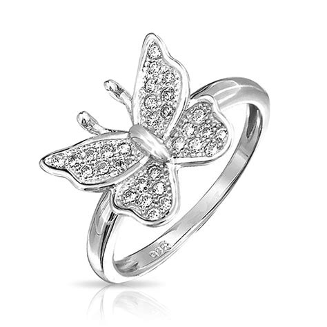 bling jewelry 925 sterling silver micropave clear cz small