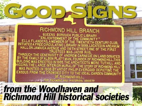 comments from 2012 richmond hill historical society good signs in woodhaven and richmond hill forgotten new york