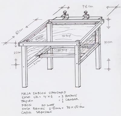 Meja Rel Sablon macam macam meja dan fungsinya meja sablon cak roes